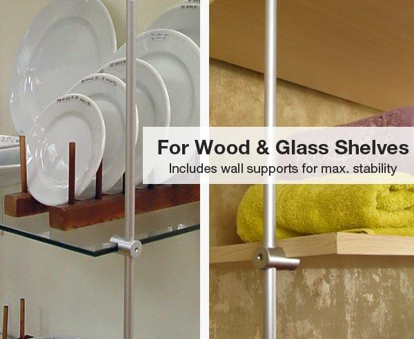 Wood & Glass Shelves