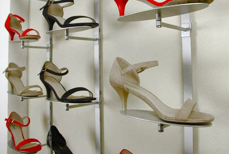 Retail Shoe Displays Wall Fixtures Amp Stands Udizine