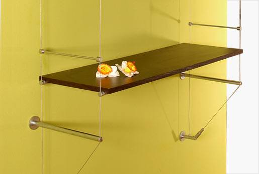 Cable | Wall-to-Wall Shelves