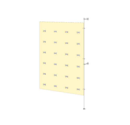 Tube Wall Mounted Kit For Acrylic Panel and SoloSlat, Extension Unit