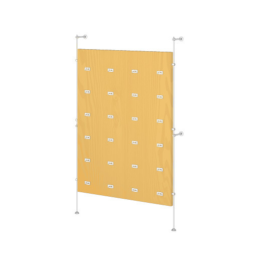 Tube Wall Mounted Kit For Wood Panel and SoloSlat, Base Unit