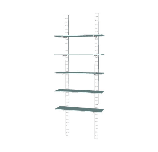 "96"" SlatStrip Unit W/10"" Brackets"