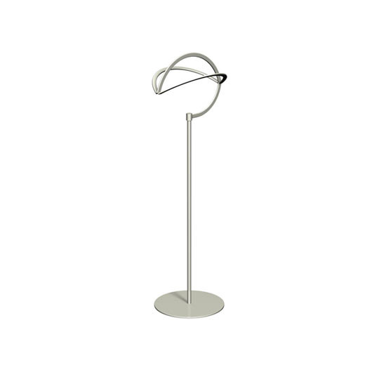 "Countertop Hat Displayer, 16"" High Satin Platinum Finish  - Impax"