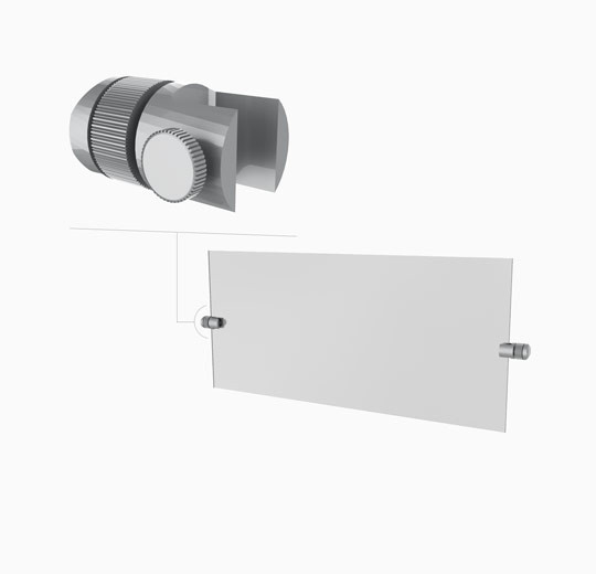 Two Clamps for Signage Display - Palo