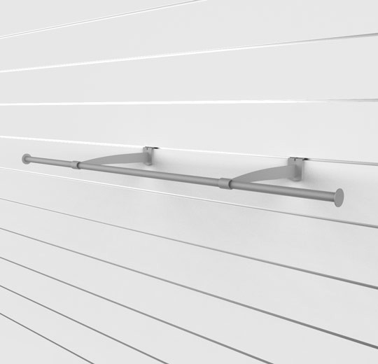 """SlatWall 48"""" Hanging Rail with Brackets - Concepto"""