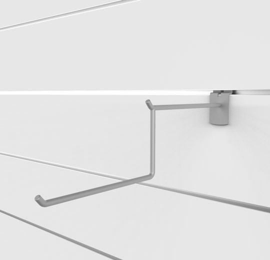 """SlatWall 12"""" Two Tier Wire Faceout - Concepto"""