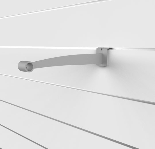 "SlatWall 12"" Hanging Rail Single Bracket"