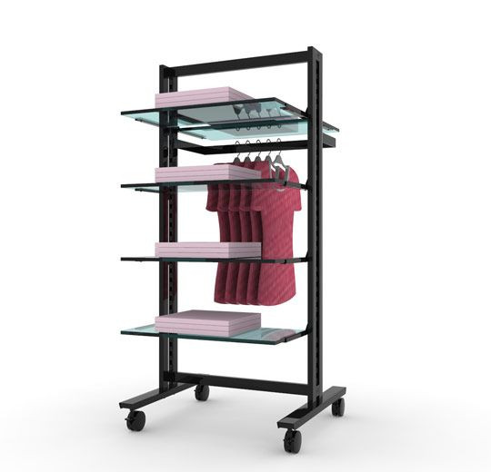 """Vertik - Stand Clothing and Shelving Kit for shop, 24"""""""