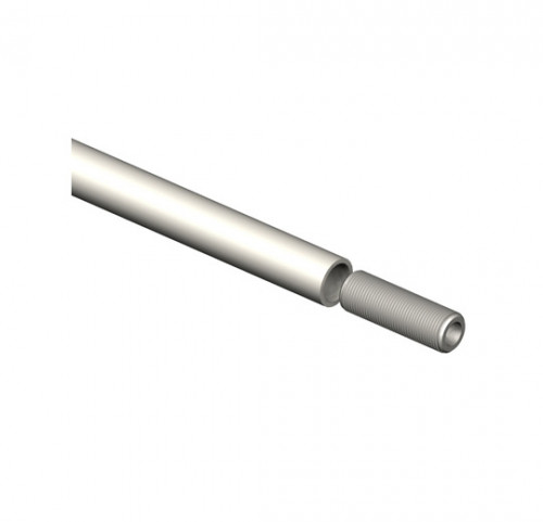 "39"" x 3/8"" Pole with Threads and Male Adapter - Tube System Components"