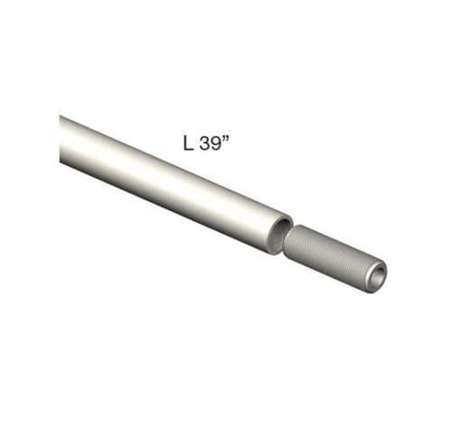 """39"""" x 3/8"""" Pole with Threads and Male Adapter - Tube System Components"""