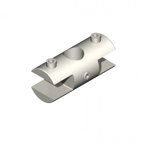Double Horizontal Clamp for Top Signage  - Tube System Components
