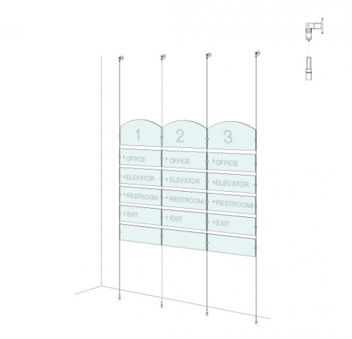 Directory Sign Kit  - Wall-to-Floor