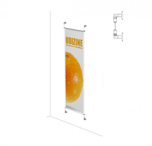 "Cable Signage Displayer for Banners with 1/2"" Tube, Suspended"