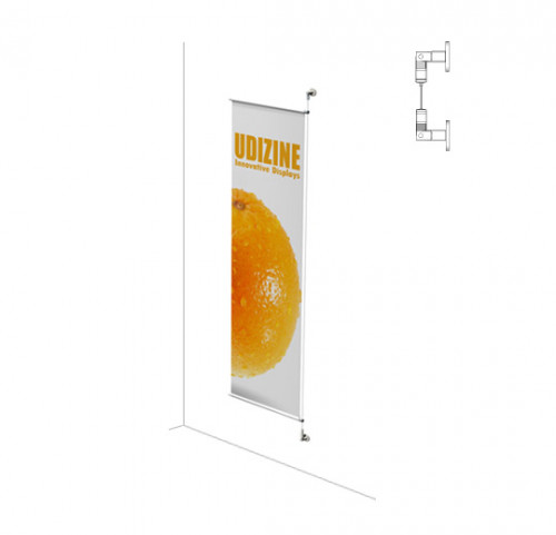 "Cable Signage Displayer for Banners with 1/2"" Tube, Suspended - Extension"
