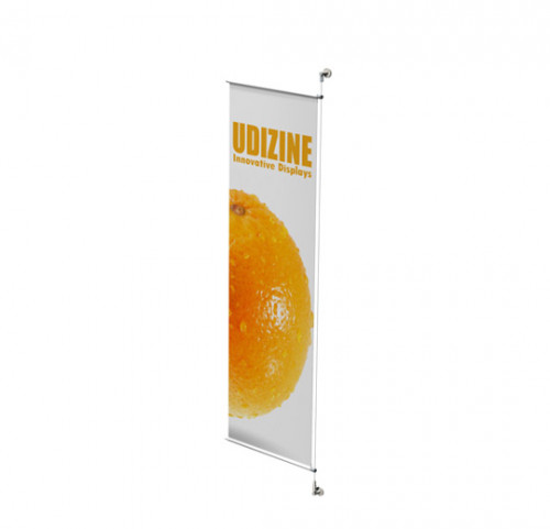 "Cable Signage Displayer for Banners with 3/4"" Tube, Wall Mounted"