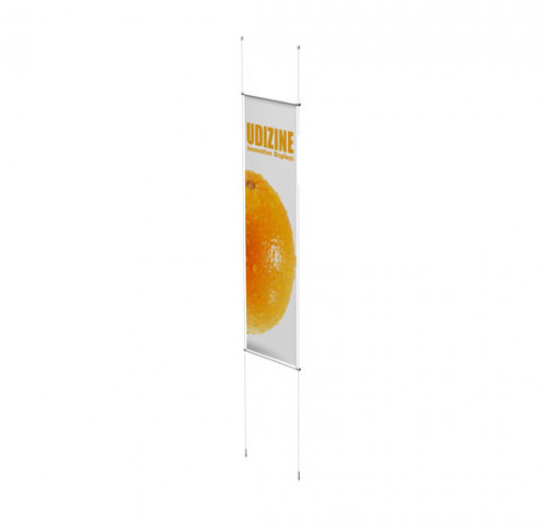 "Cable Signage Displayer for Banners with 3/4"" Tube, Suspended"