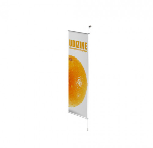"Cable Signage Displayer for Banners with 3/4"" Tube, Wall Mounted to Floor - Extension"