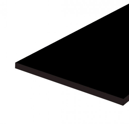 "14""x36""x3/4"" Melamine (MDF) Shelves - Black"