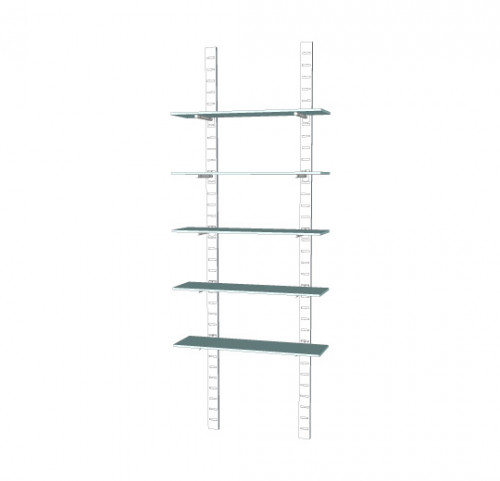 "96"" SlatStrip Unit W/14"" Brackets"