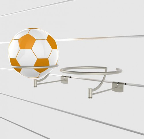 "SlatWall Rotating Top Ball Displayer with 6"" Arm - Concepto"