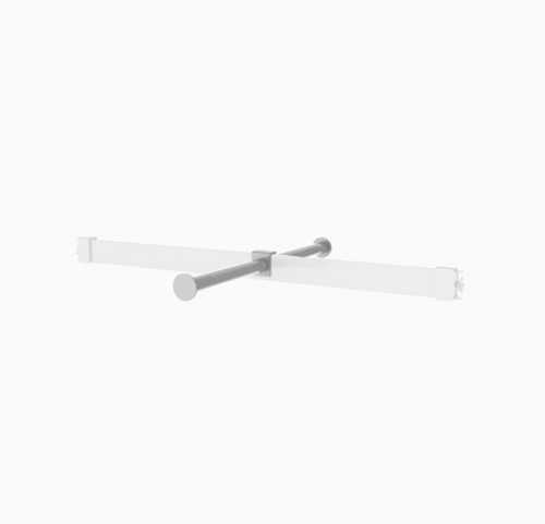 Round Tube Faceout for Rectangular Hanging Rail - Palo