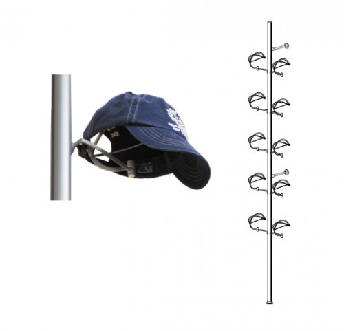 Aluminum Pole Displayer for Ten Hats, Wall Mounted - Palo
