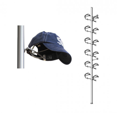 Aluminum Pole Displayer for Twelve Hats, Wall Mounted - Palo