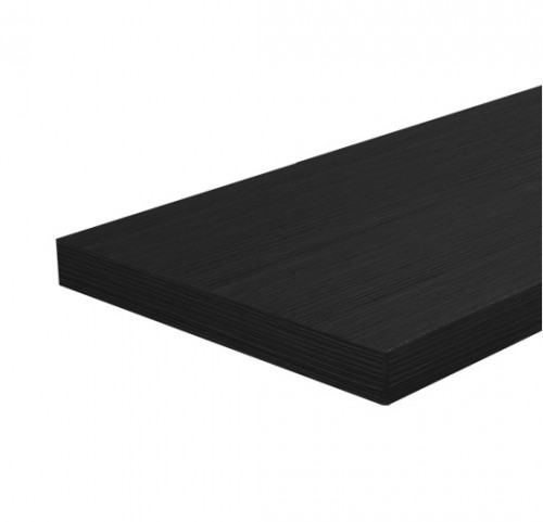 "12""x48""x3/4"" Melamine (MDF) Shelves - Black"