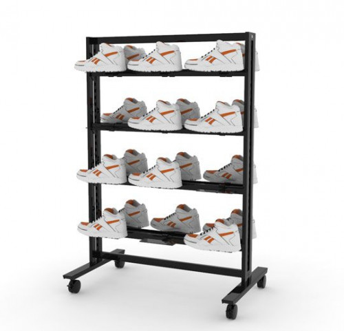 """38"""" Stand for 24 Shoe Display 