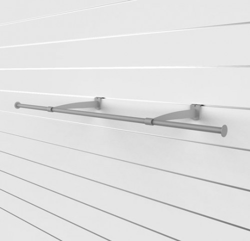 "SlatWall 48"" Hanging Rail with Brackets - Concepto"