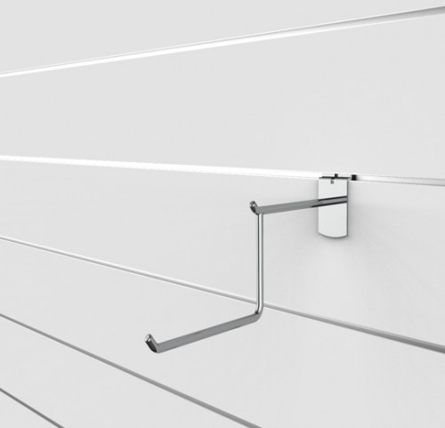 SlatWall Two Tier Wire Faceout, Chrome Finish - Concepto