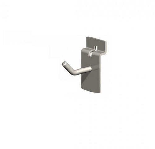 "2"" SlatWall Hook, Chrome Finish"