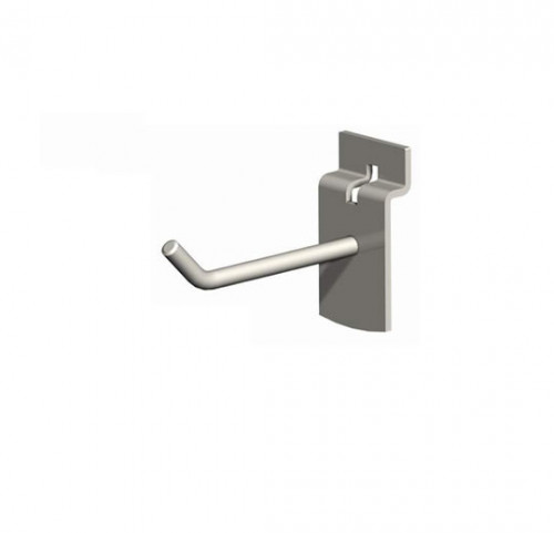 "6"" SlatWall Hook, Chrome Finish"