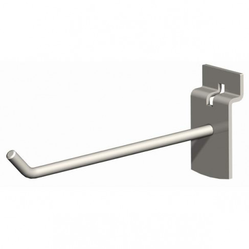 "8"" SlatWall Hook, Chrome Finish"