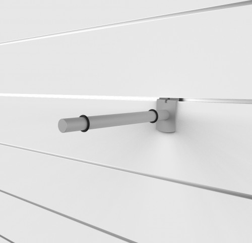 "SlatWall 10"" Glass Shelving Brackets - Concepto"