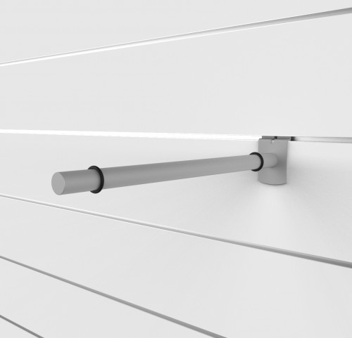 "SlatWall 14"" Glass Shelving Brackets - Concepto"