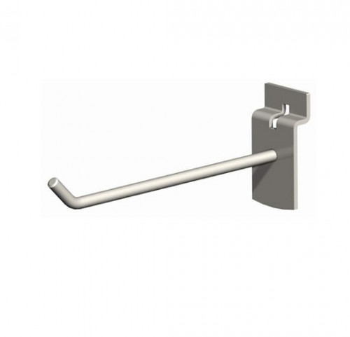 "12"" SlatWall Hook, Chrome Finish"