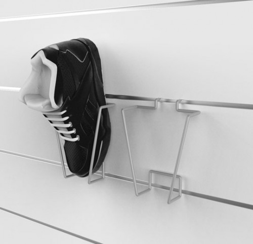 SlatWall Vertical Shoe Displayer