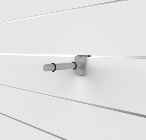 "SlatWall 6"" Glass Shelving Brackets - Concepto"