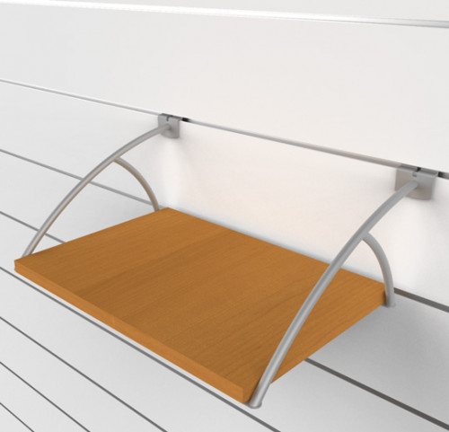 "SlatWall Book Shelving Brackets, Right and Lets set for 12"" - 16"" Shelves"