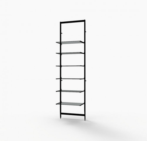 Vertik - Dark Brown Base Kit for 6 Shelves