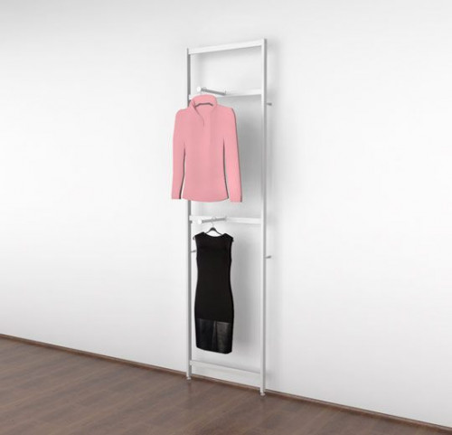 Clothing Display with Two Faceouts, White - Vertik