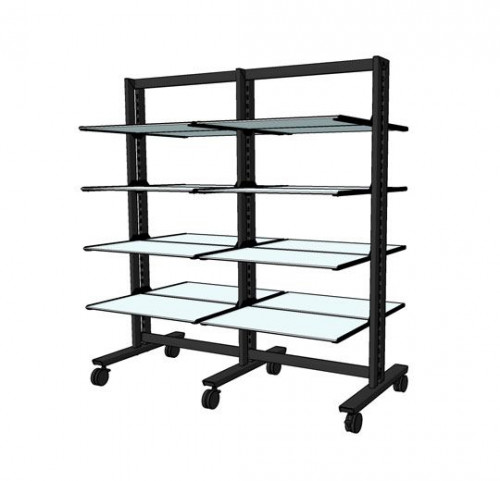 "Shelving Stand for 16 Wood or Glass Shelves 14""-16"" 