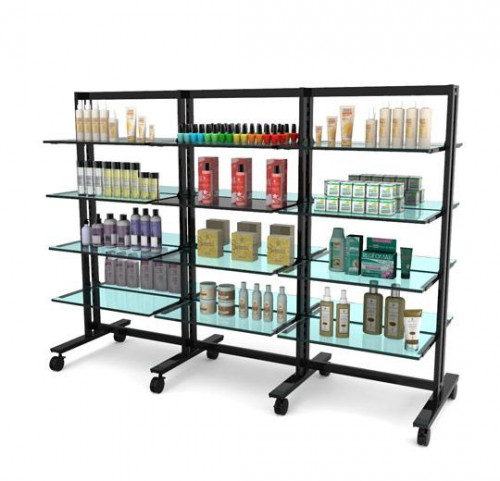 "Shelving Stand for 24 Wood or Glass Shelves 10""-12"" 