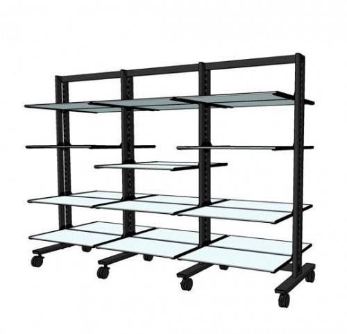 "Shelving Stand for 24 Wood or Glass Shelves 14""-16"" 