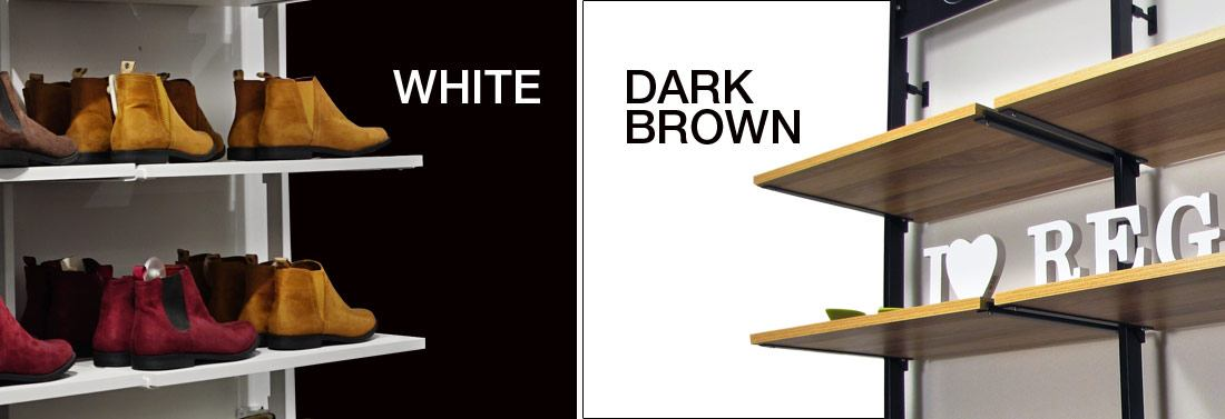 White and Dark Brown