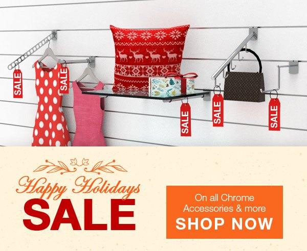 Slatwall Accessories Chrome Holiday Sale