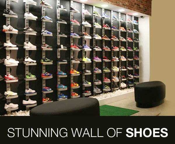 Stunning Wall of Shoes